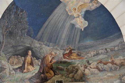 Der Engel Verkündigt Den Hirten Die Frohe Botschaft