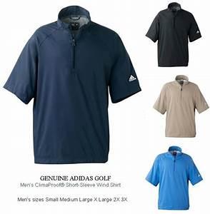 Dri Duck Jacket Size Chart Adidas Golf Mens S Xl 2xl 3xl Climaproof Short Sleeve Wind