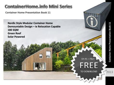 shipping container homes modular design book