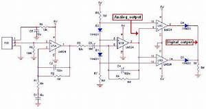 The Circuit Diagram For Capturing An Analog Signal Output From A Pir