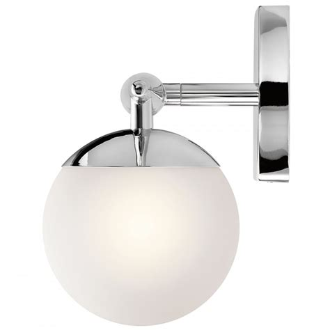 jasper 14w led bathroom wall light polished chrome