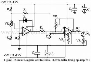 electronics thermometer using op amp 741 ic engineering With small ic amplifiers for speakers