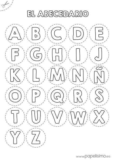 abecedario para colorear y recortar papelisimo