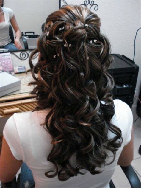 2019 popular wedding hairstyles for long thick curly hair