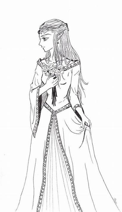 Coloring Zelda Princess Pages Adult Formal Legend