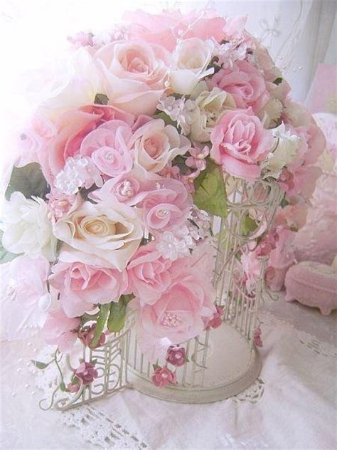 shabby chic pink roses romantic rose bird cage shabby chic girlie side of life pintere