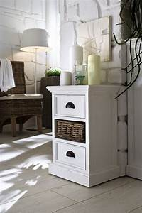 Beistelltisch Weiß Landhausstil : beistelltisch kommode weiss im landhausstil mit zwei schublade ~ Markanthonyermac.com Haus und Dekorationen