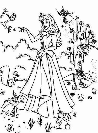Aurora Coloring Princess Poster Pages Colornimbus