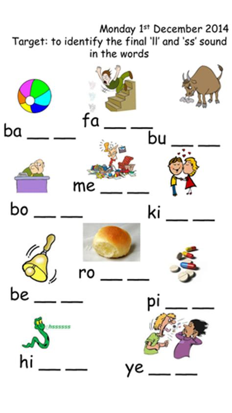 Phonics Ss And Ll Ending For Words By Joop09  Teaching Resources Tes