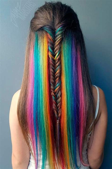 25 Trending Hidden Rainbow Hair Ideas On Pinterest