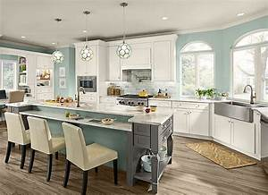 maple kitchen in dove white kraftmaid With kitchen colors with white cabinets with large black and white canvas wall art
