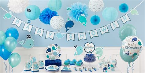 Blue Baby Whale Baby Shower Decorations