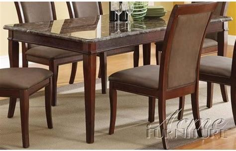 Kitchen Furniture Gallery Danville by Acme Furniture Danville Black Marble Top Dining Table