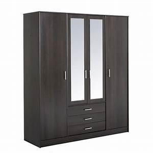 Armoire 4 Portes : armoire 4 portes 3 tiroirs galaxy caf ~ Teatrodelosmanantiales.com Idées de Décoration