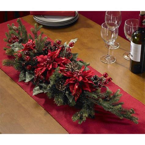 Shop Poinsettia And Berry Centerpiece Silk Plant
