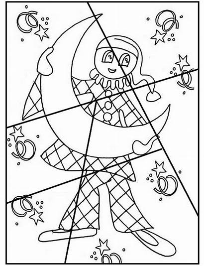 Coloring Puzzle Puzzles Preschool Carnival Pages Worksheets