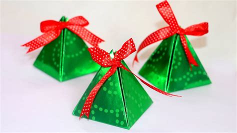 diy christmas gift box easy paper pyramid gift box