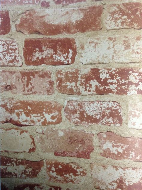 rustic colored   wall faux brick wallpaper