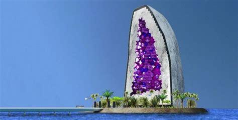 dit hotel wordt gebouwd  de vorm van een mega grote