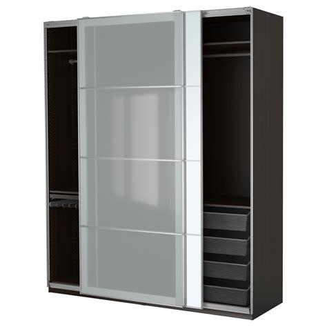 armoire basse chambre pax wardrobe black brown auli sekken 200x66x236 cm ikea