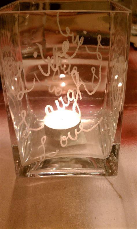 etched glass   dremel tool dremel crafts dremel