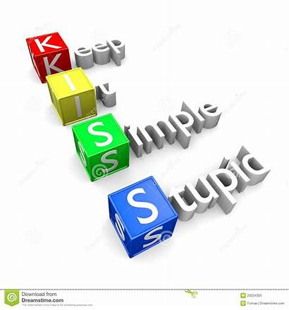 Kiss Acronym Simple Keep Stupid Dreamstime