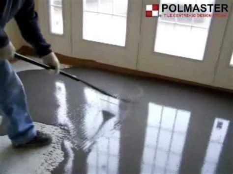 Floor self levelling   YouTube