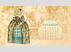 Desktop Wallpaper Calendar November 2012 Call Me Victorian