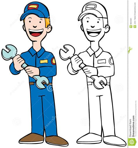 mechanic clipart black and white mechanic stock vector image of icon book work