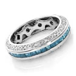blue wedding ring gold blue wedding band eternity ring 2 64ct item code 405419