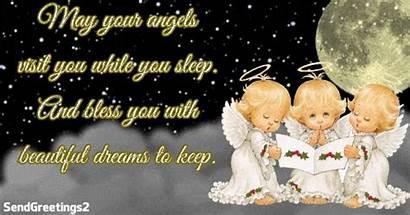 Angels Sleep While Visit Bless Keep Dreams