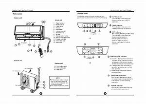 Split Type Air Conditioner Manual