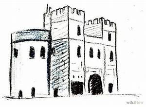 How to Draw a Medieval Castle