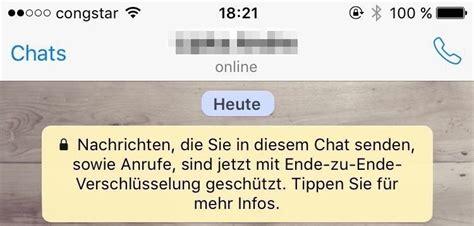 whatsapp    verschluesselung ab sofort fuer alle