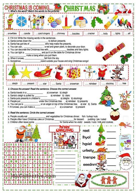 xmas cloze christmas worksheets christmas lesson