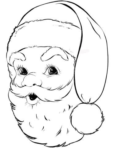 santa claus portrait coloring page  printable