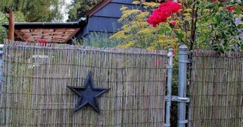 diy beautify  chain link fence  bamboo chain