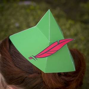 peter pan 3d hat disney family With peter pan hat template