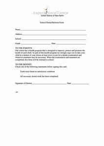 School Dental Referral Form printable pdf download  Child Dental Health Teeth