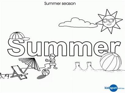 Coloring Summer Pages Printable Beach Seasons Season