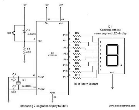 All Its Electronics Interfacing Seven Segment Display