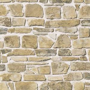 rasch stone wall natural wallpaper 265606 With balkon teppich mit wema tapete