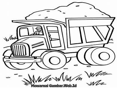 Mewarnai Truk Gambar Mobil Sketsa Molen Pasir