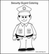 Coloring Security Guard Pages Template sketch template