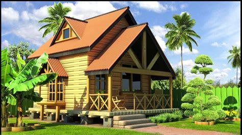 desain rumah kayu minimalis bernuansa klasik