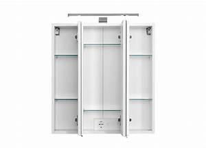 Wandregal Weiß 60 Cm Breit : bad spiegelschrank 3 t rig mit led aufbauleuchte 60 cm breit wei bad spiegelschr nke ~ Bigdaddyawards.com Haus und Dekorationen