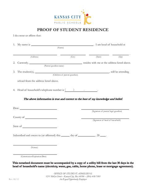 9 proof of residency letter from family member joblettered 2018 proof of residency letter fillable printable pdf 54711