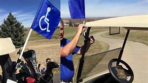 Handicap Flag For Golf Cart  Works With Other Flags Too