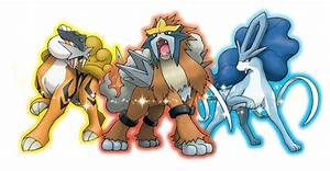 Trading - gen 4 Shiny Raikou, Suicune, and Entei gamestop ...