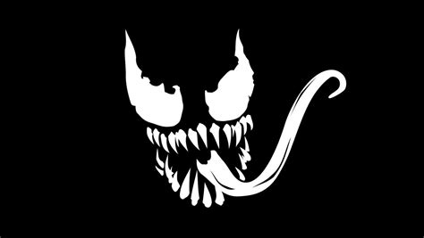 venom marvel logo  dark background hd wallpapers
